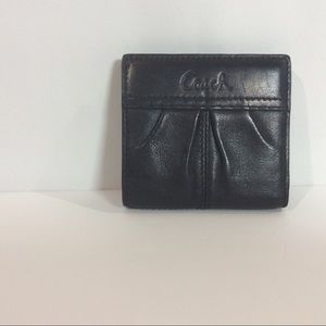 Coach Small Black Leather Wallet